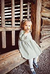 Šaty - Detské ľanové šaty - 10923998_