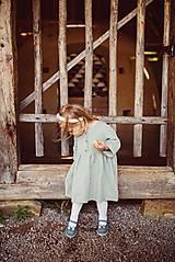 Šaty - Detské ľanové šaty - 10923999_