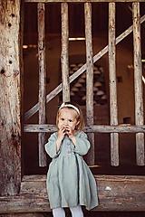 - Detské ľanové šaty - 10924000_