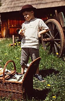 Tričká - Detská ľanová košeľa - 10924048_