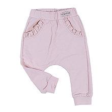 Detské oblečenie - Pudlové tepláky - soft pink s volánikom - 10924036_