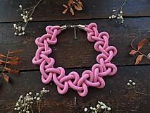 Náhrdelníky - Růžový límeček - 10924741_