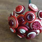 Dekorácie - Bouquet rouge ... - 10924007_