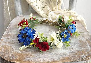 Ozdoby do vlasov - Kvetinový venček ,,nevädza,, - 10922773_
