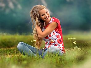 Tričká - Tričko Poppy Halves - 10923003_