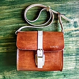 Vintage leather crossbody messenger
