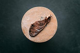 Náhrdelníky - Prívesok javorový plod - patina - 10923388_