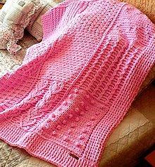 Textil - Jemnučká a ľahká detská deka z priadze alize puffy fine - 10923544_
