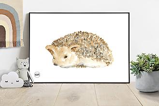 Detské doplnky - Art Print - ježko - 10923674_
