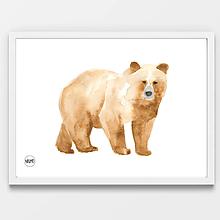 Detské doplnky - Art Print - medveď hnedý - 10923737_