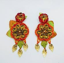 Náušnice - Sweet orange náušničky - 10922947_