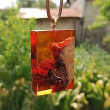 Náhrdelníky - oranžový náhrdelík - 10923479_