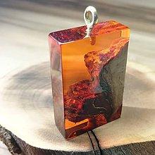 Náhrdelníky - oranžový náhrdelík - 10923488_