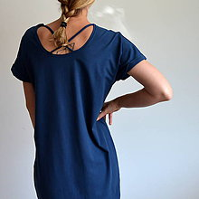 Šaty - Šaty Gréta modré - 10923021_