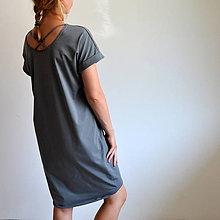 Šaty - Šaty Gréta sivé - 10923059_