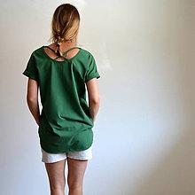 Tričká - Tričko Gréta zelené - 10923470_