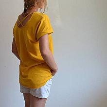 Tričká - Tričko Gréta žlté - 10923512_