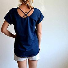 Tričká - Tričko Gréta modré - 10923528_