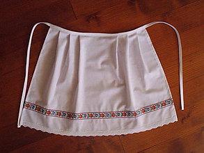 Iné oblečenie - Svadobná folklórna zástera biela - viac farieb krojovky - 10922894_