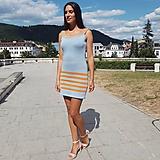 - Úpletové šaty - Letný deň - 10923944_