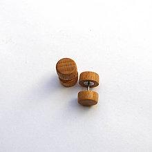 Náušnice - Drevené falošné rozťahováky - bukové - 10922929_