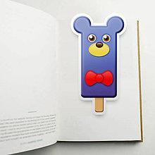 Papiernictvo - Nanuk záložka do knihy - medvedík (mašlička) - 10923902_
