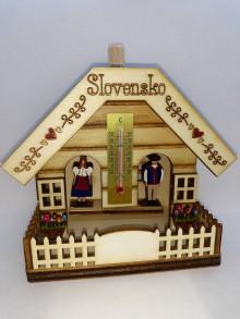 Dekorácie - Suvenír Meteodomček Slovensko 1 - 10926336_