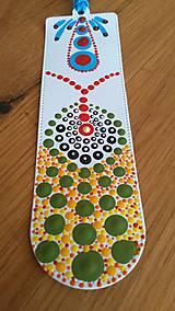 Papiernictvo - Bodkovaná záložka maľovaná - akryl - 10925860_