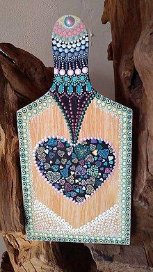 Dekorácie - Bodkované drevené denko - akryl - 10925829_