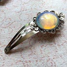 Ozdoby do vlasov - Vintage Opalite Hair Clip / Veľká vintage sponka s opalitom - 10925206_