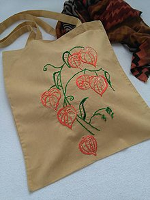 Nákupné tašky - Machovka (nákupka s ručnou výšivkou) - 10925077_