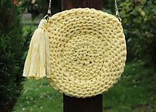 Kabelky - Žltá háčkovaná kabelka - 10926751_