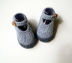 Topánočky - Sandálky džínové alpaka - 10925609_