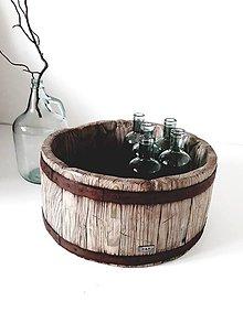 Nádoby - Veľká drevená nádoba k&m dizajn - 10925531_