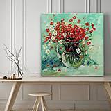 Obrazy - Kytička v sklenenom džbáne - 10925005_