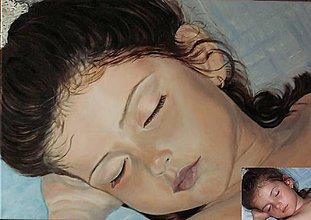 Obrazy - Portrét dievčatka - 10926023_
