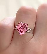 Prstene - Swarovski prsteň srdce - 10925605_