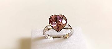 Prstene - Swarovski prsteň srdce - 10925611_