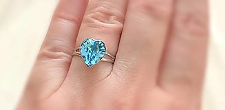 Prstene - Swarovski prsteň srdce - 10925612_