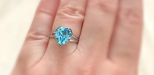 Swarovski prsteň srdce