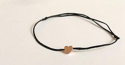 Náramky - náramok srdce ružová zlatá - 10925450_