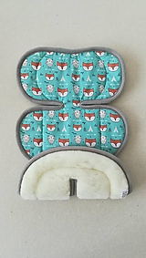 Textil - Poťah do autosedačky vajíčka MERINO 0-13kg MINT - 10926073_
