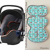 Textil - Poťah do autosedačky vajíčka MERINO 0-13kg do BRITAX RÖMER BABY-SAFE² i-SIZE Mint - 10926078_