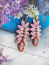 Náušnice - trblietavé ružové náušničky - 10926401_