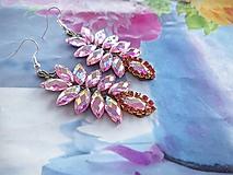 Náušnice - trblietavé ružové náušničky - 10926402_