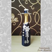 Nádoby - Gratulačná fľaša k narodeninám - 10926685_