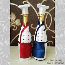 Nádoby - Gratulačná fľaša kuchár - 10926696_