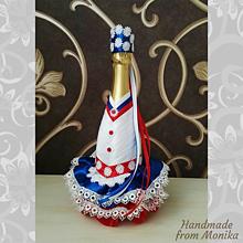 Nádoby - Gratulačná fľaša ľudový kroj - 10926697_
