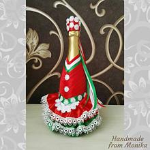 Nádoby - Gratulačná fľaša ľudový kroj - 10926698_