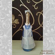 Nádoby - Gratulačná fľaša sestrička - 10926703_